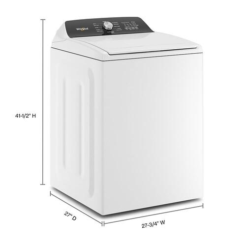 Whirlpool - 4.6 Cu. Ft. Top Load Impeller Washer with Built-in Faucet