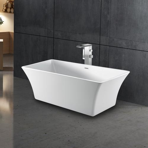 "Taylor 67"" Acrylic Tub with Integral Drain and Overflow - Polished Brass Drain and Overflow"