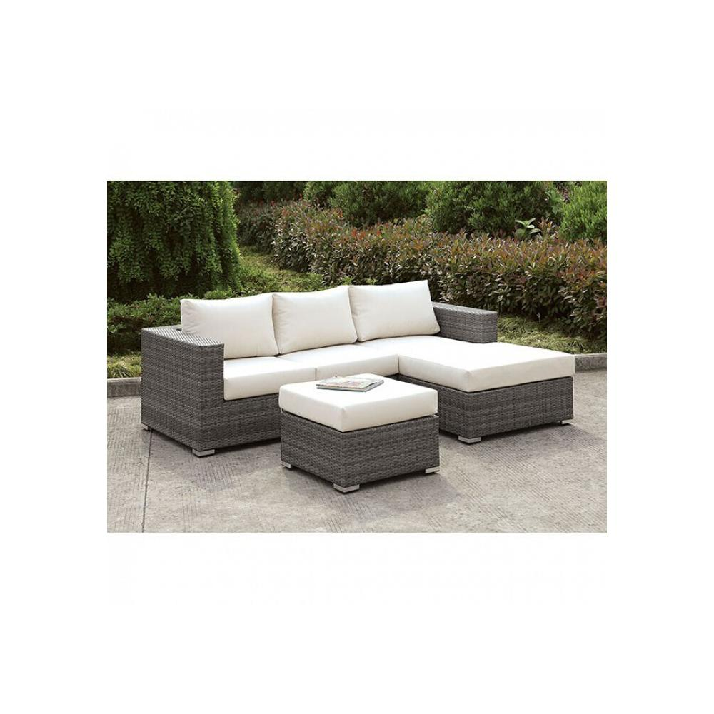 See Details - Somani Small L-sectional W/ Right Chaise + Ottoman