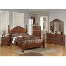 Kit-walnut Queen Bed-hb/fb/r
