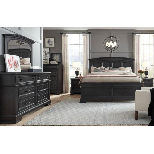Townsend Arched Panel Bed, King 6/6