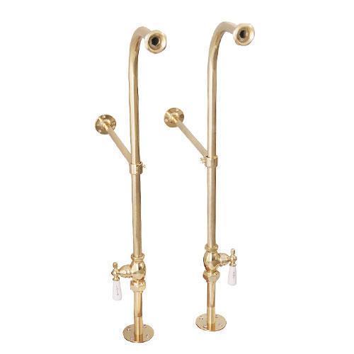 Freestanding Tub Supplies - Polished Brass