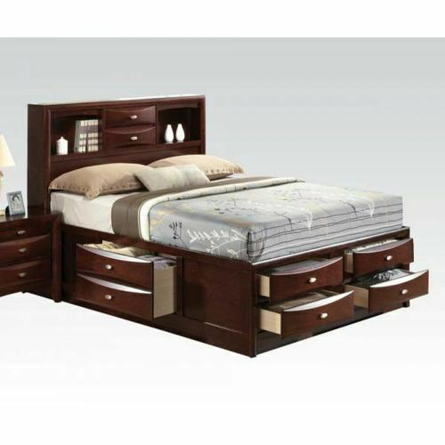 ACME Ireland Queen Bed w/Storage - 21600Q KIT - Espresso