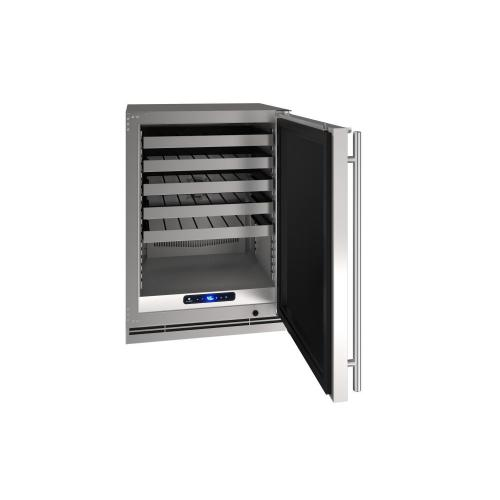 "24"" Wine Refrigerator With Stainless Solid Finish (230 V/50 Hz Volts /50 Hz Hz)"