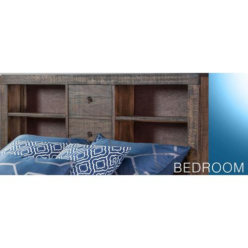 Ranch House Full Captain Bookcase Storage Bed