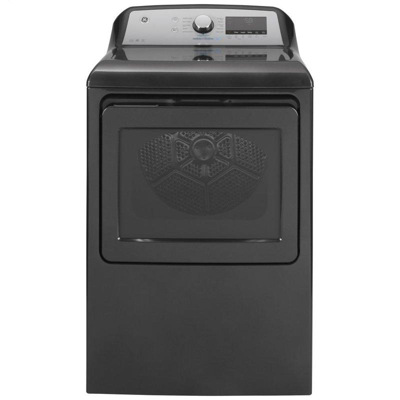 View Product - GE® 7.4 cu. ft. Capacity Smart aluminized alloy drum Electric Dryer with Sanitize Cycle and Sensor Dry