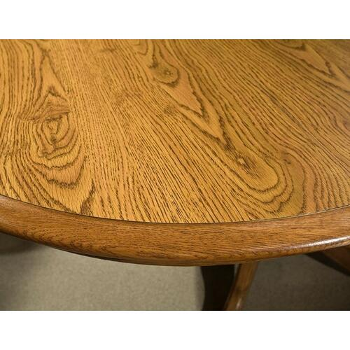 Classic Oak Chestnut Laminate Drop Leaf Table