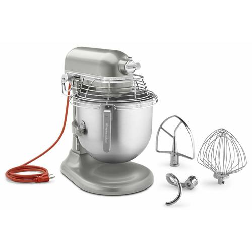 Gallery - NSF Certified® Commercial Series 8 Quart Bowl-Lift Stand Mixer with Stainless Steel Bowl Guard - Nickel Pearl