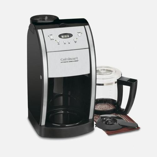 Grind & Brew 12 Cup Automatic Coffeemaker with Brushed Metal Italian Styling
