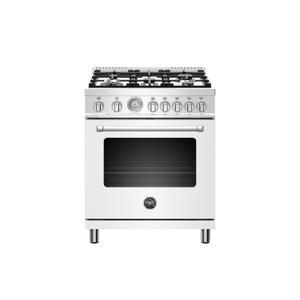 Bertazzoni30 inch Dual Fuel, 5 Burners, Electric Oven Bianco Matt