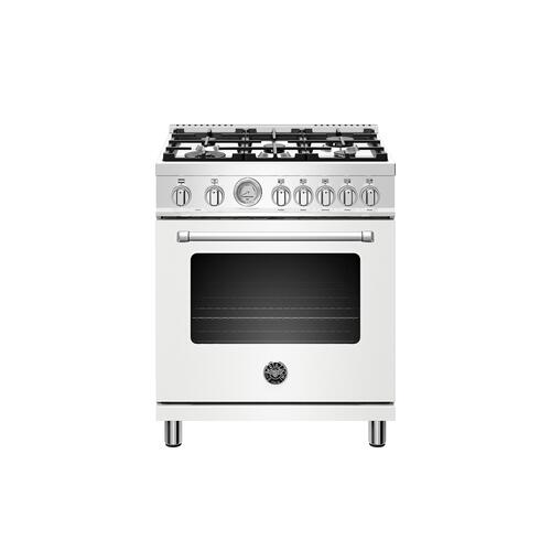 Bertazzoni - 30 inch Dual Fuel, 5 Burners, Electric Oven Bianco Matt