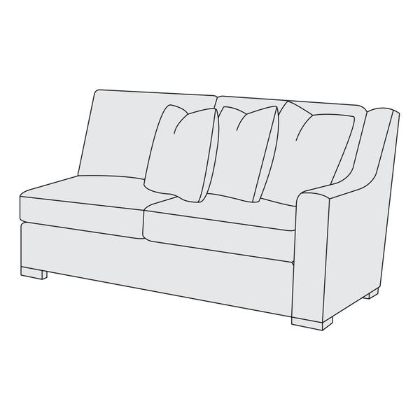 Germain Right Arm Loveseat in Mocha (751)