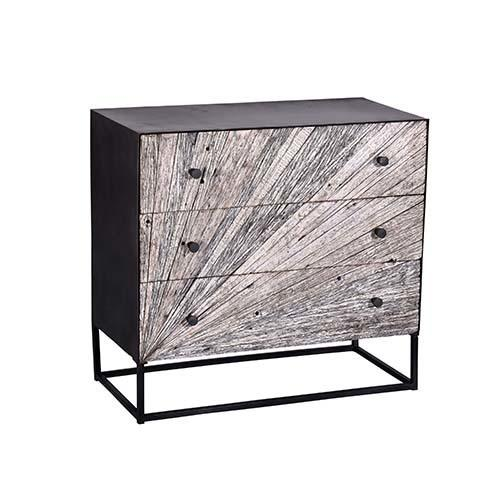Drawer Chest - Whitewash Gray Finish