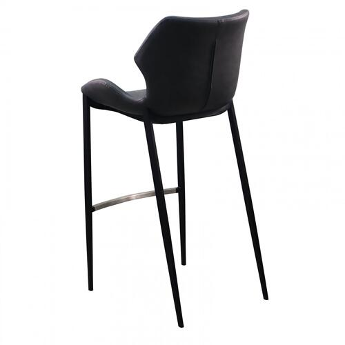 VIG Furniture - Modrest Ithaca - Industrial Dark Grey Eco-Leather Bar Stool (Set of 2)