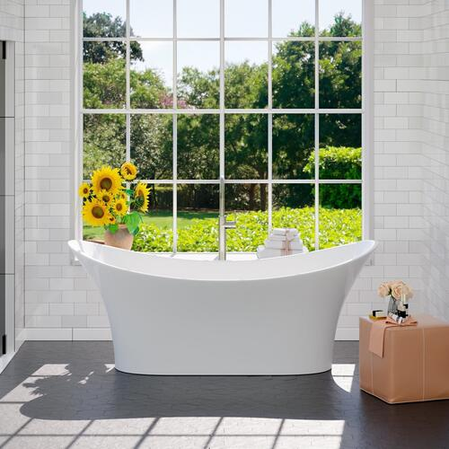 "Product Image - Noreen 69"" Acrylic Double Slipper Tub"