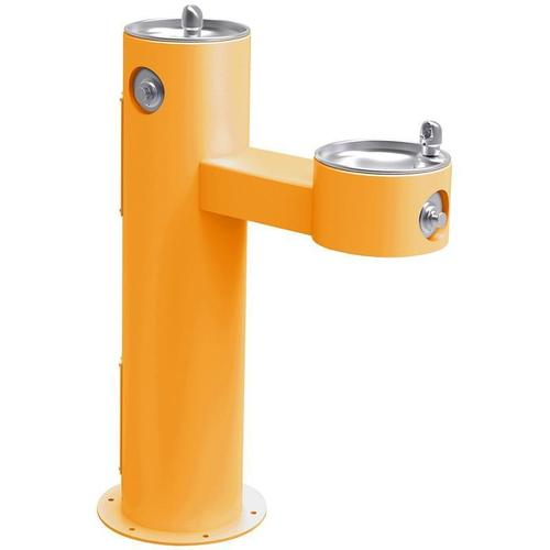 Elkay - Elkay Outdoor Fountain Bi-Level Pedestal Non-Filtered, Non-Refrigerated Freeze Resistant Yellow