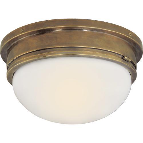 E. F. Chapman Marine 2 Light 13 inch Hand-Rubbed Antique Brass Flush Mount Ceiling Light