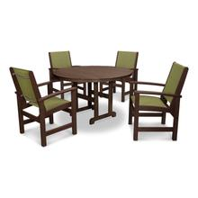 Mahogany & Kiwi Coastal 5-Piece Dining Set
