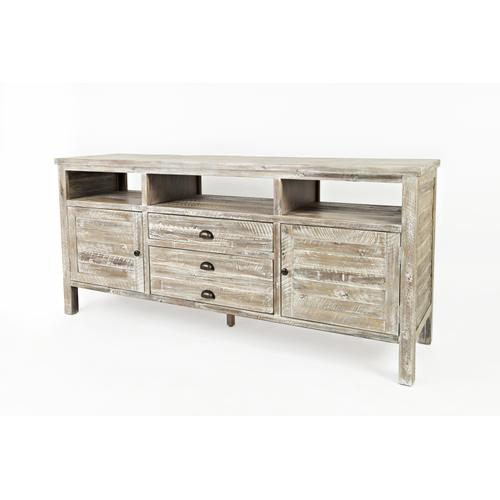 "Artisan's Craft 70"" Media Console - Washed Grey"