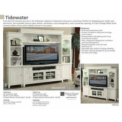 TIDEWATER 62 in. Corner Tall TV Console