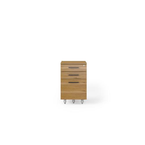 BDI Furniture - Sequel 20 6107 Mobile File Cabinet in Natural Walnut