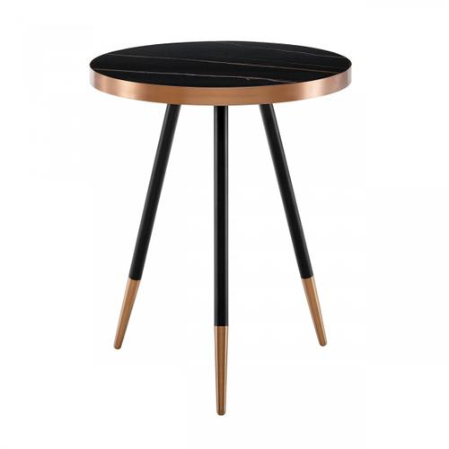 VIG Furniture - Modrest Cayson - Modern Black Ceramic End Table