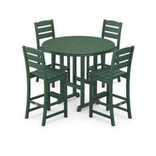 View Product - Lakeside 5-Piece Round Bar Side Chair Set in Green