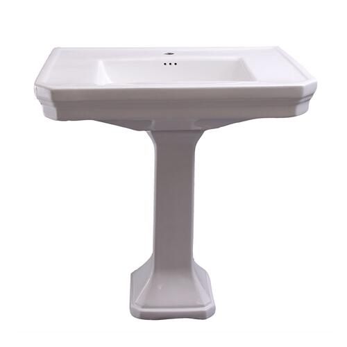 Corbin Pedestal Lavatory - Single-Hole