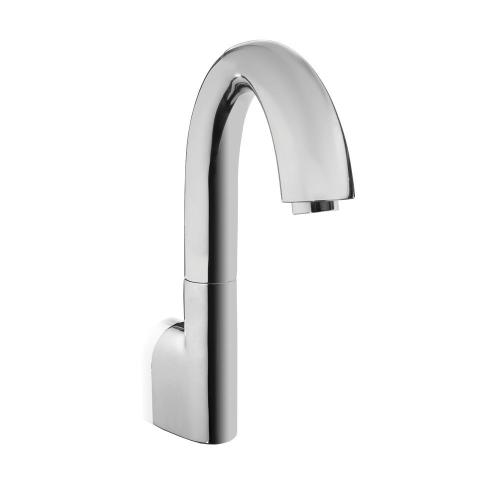 Gooseneck Wall-Mount EcoPowerFaucet - 1.0 GPM - Polished Chrome Finish