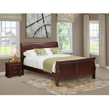 West Furniture Louis Philippe 2 Piece Queen Size Bedroom Set in Phillip Walnut Finish with Queen Bed,Nightstand