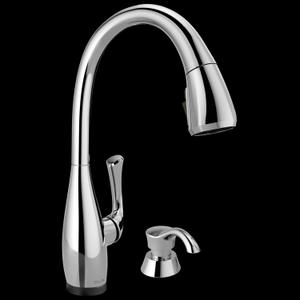 Single Handle Pull-Down Kitchen Faucet with Touch 2 O ® and ShieldSpray ® Technologies Product Image