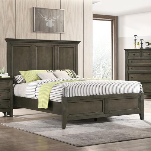 San Mateo Standard Bed  Gray