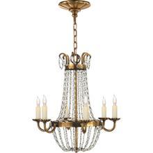 View Product - E F Chapman Paris Flea Market 6 Light 16 inch Antique-Burnished Brass Chandelier Ceiling Light