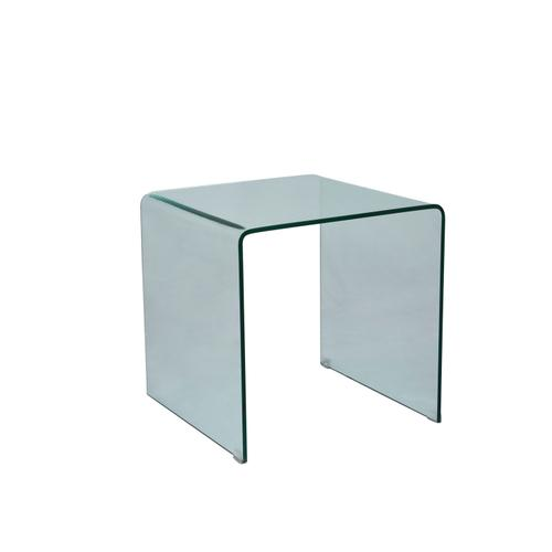 Clarity Bent Glass End Table
