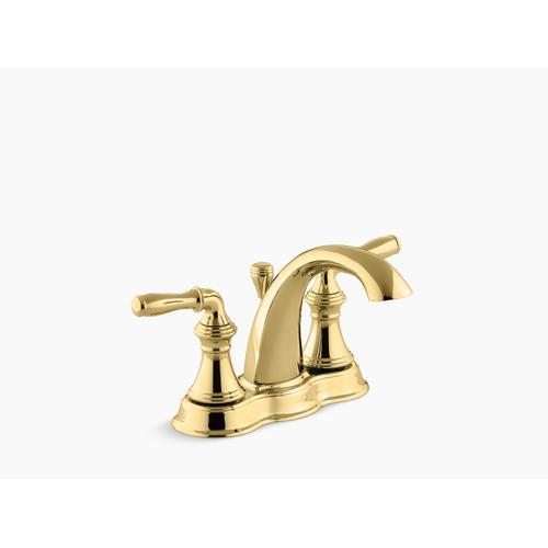 Vibrant Polished Brass Centerset Bathroom Sink Faucet