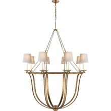 View Product - E. F. Chapman Lancaster 8 Light 42 inch Gilded Iron Chandelier Ceiling Light