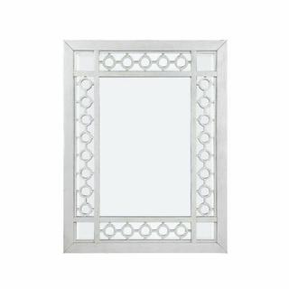 ACME Varian Mirror - 66158 - Glam, Vintage - Mirror, Wood (Poplar/Rbw), Poly-Resin, MDF - Mirrored and Antique Platinum