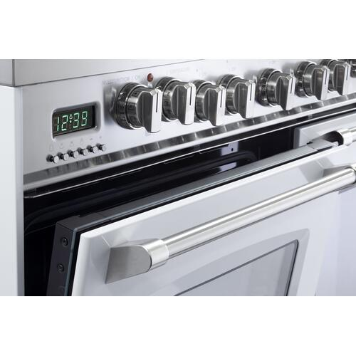 "White 36"" Dual Fuel Single Oven Range - Prestige Series"
