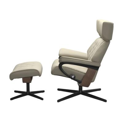 See Details - Stressless® Skyline (L) Cross Chair with Ottoman
