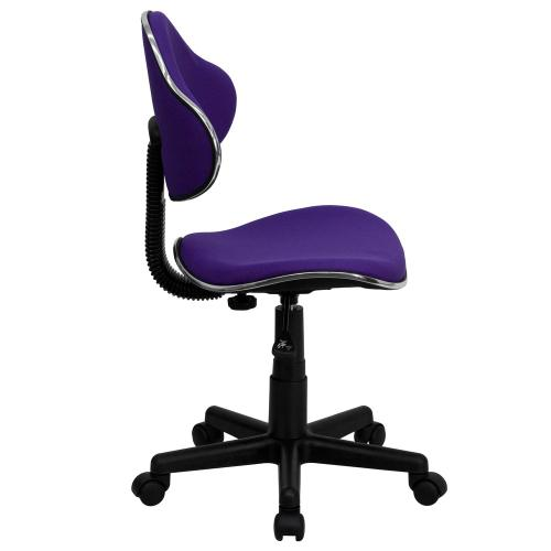 Purple Fabric Ergonomic Swivel Task Chair