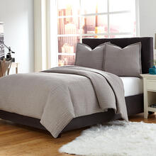 3 pc King Coverlet/DuvetSet Gray