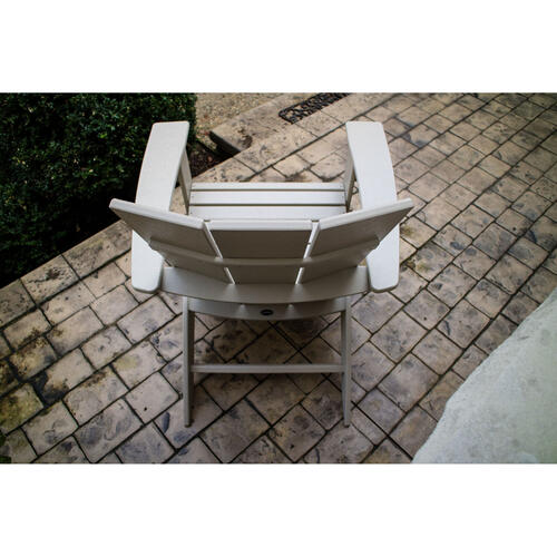 White Modern Curveback Adirondack Chair