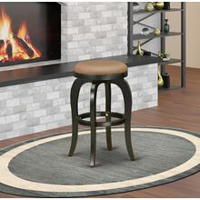 "Bedford Swivel Backless Barstool 30"" Seat Height With Black Leg And Pu Leather Brown Roast"