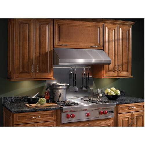 Broan® Elite 36-Inch Pro-Style Under-Cabinet Range Hood w/ Internal Blower & Light, Stainless Steel