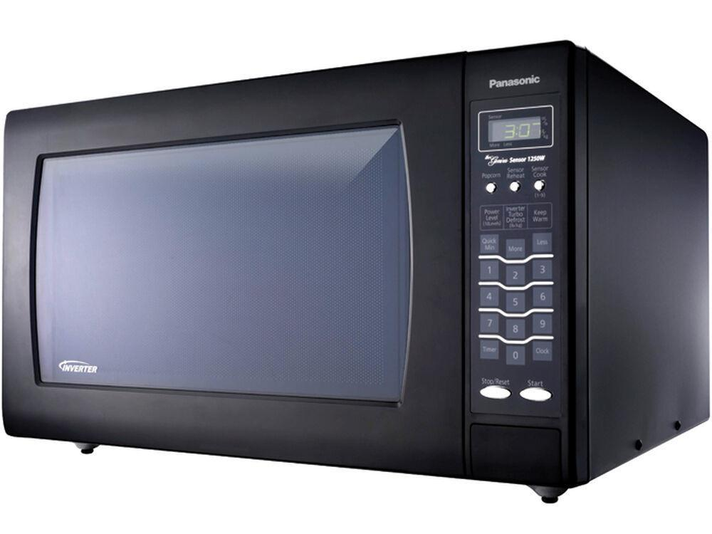 PanasonicLuxury Full-Size 2.2 Cu. Ft Genius Countertop Microwave Oven With Inverter Technology, Black Nn-Sn968b