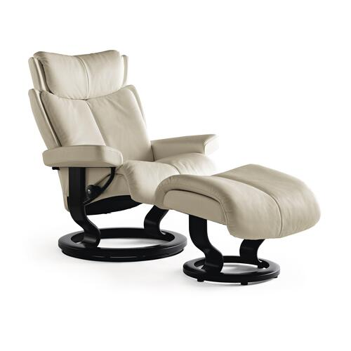 Stressless Magic Small Classic Base Chair and Ottoman