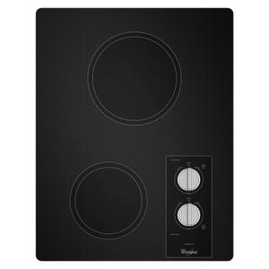 Whirlpool15-inch Electric Cooktop with Easy Wipe Ceramic Glass