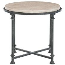 Galesbury Round Metal End Table