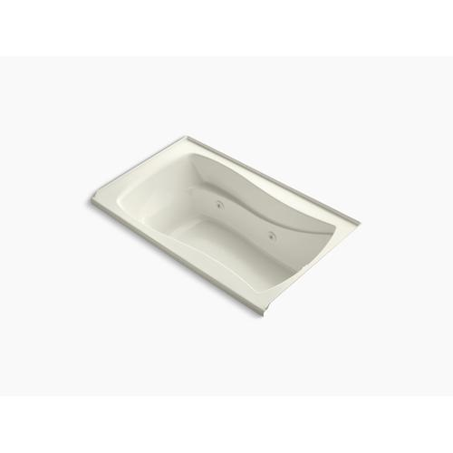 """Biscuit 60"""" X 36"""" Alcove Whirlpool With Integral Flange and Right-hand Drain"""