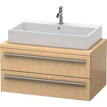 Vanity Unit For Console, Brushed Oak (real Wood Veneer)